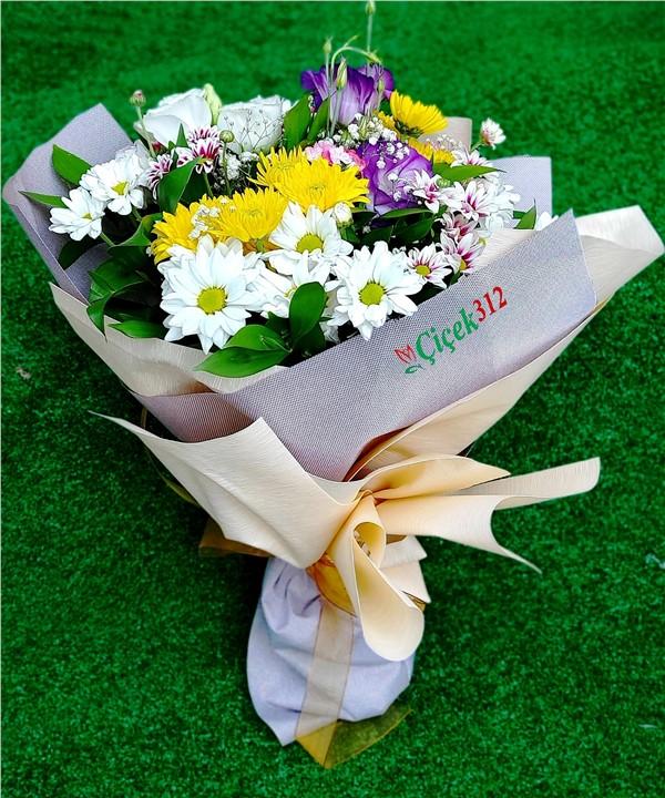 Mevsim Çiçekleri Buketi-002