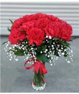 Sevgimin Coşkusu 21 Kırmızı Karanfil