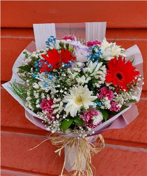 Mevsim Çiçekleri Buketi-001