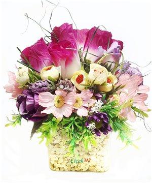 Karma Yapay Çiçek Aranjmanı