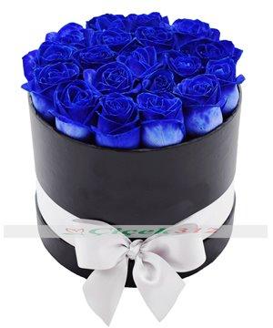 Aşkın Kalbimde Kutuda 19 Mavi Gül