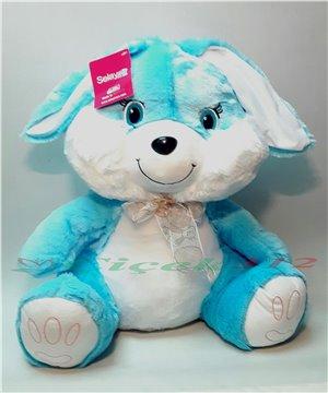 Orta Boy Peluş Tavşan-Mavi