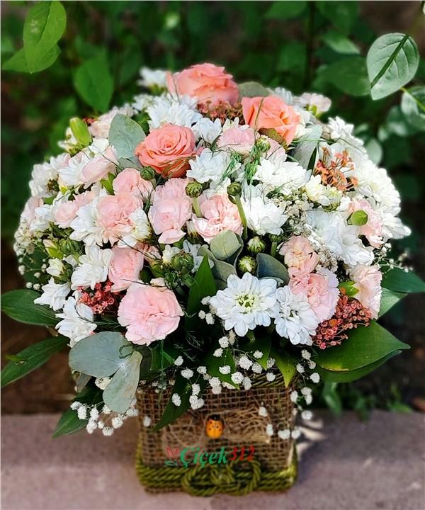 Karma çiçek aranjmanı -09