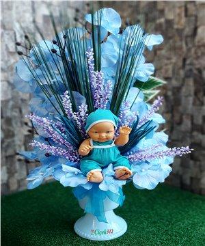 Bebekli Yapay Çiçek Tanzimi Kız/Erkek