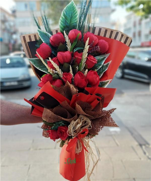 Yapay Çiçek Buketi-001